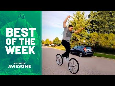 Double Unicycle Tricks & More Video | Best Of The Week