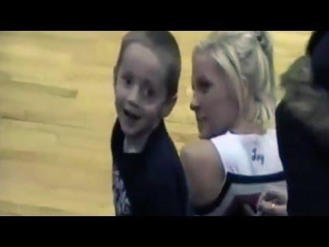 Brave Boy Asks High School Cheerleader For A Kiss