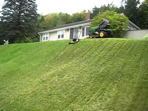 Crazy Lawn Mower Video