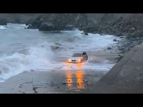 What Happens When You Park To Close To The Ocean? Your Daily Dose Of Internet Video.