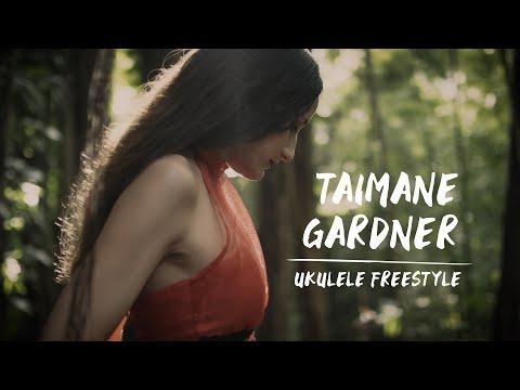 Taimane Gardner Ukulele Freestyle at Nuuanu Forest
