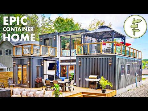 Mind-Blowing Shipping Container Home with MASSIVE Rooftop Deck - Full Tour #Video
