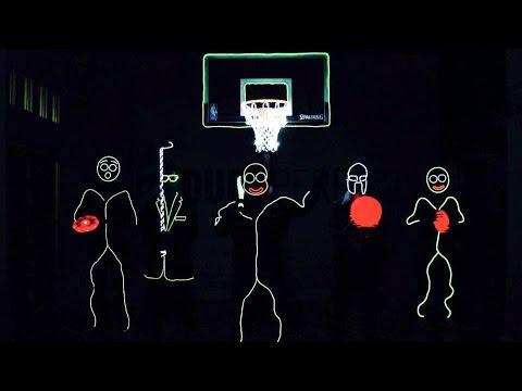 Glow In The Dark Trick Shots - | Dude Perfect