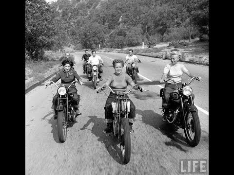 18 Incredible Vintage Photos of Female Motorcyclists in 1949 Video