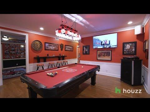 A Tricked-Out Basement For Two College Basketball Super Fans
