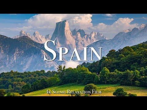 Spain 4K - Scenic Relaxation Film With Calming Music #Video