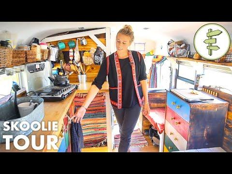 Awesome School Bus Conversion Into Tiny House on Wheels - Full Tour