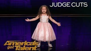 "Sophie Fatu: AGT's Youngest Performer EVER Sings ""New York, New York"" - America's Got Talent 2018"