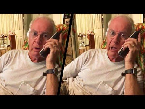 Grandfather's Donald Duck Voice Scares Away Telemarketer Video