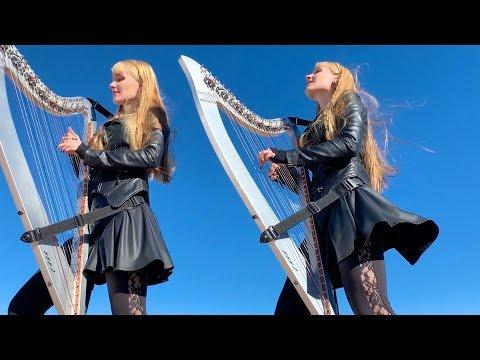 DOUBLE VISION (Foreigner) - Harp Twins, Camille and Kennerly
