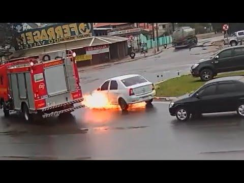The Most Convenient Fire Truck Video. Your Daily Dose Of Internet.