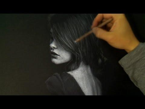 Girl In The Shadows - Portrait Drawing
