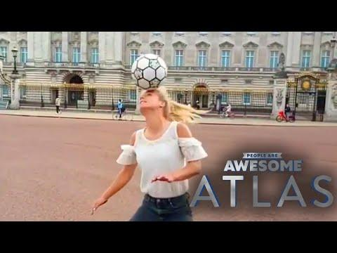 Freestyle Footballing in London with Aguska Mnich | People Are Awesome Video | Atlas