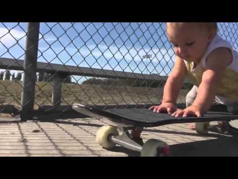Baby On A Skateboard