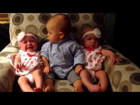 Toddler Is Confused When Meeting Baby Twins