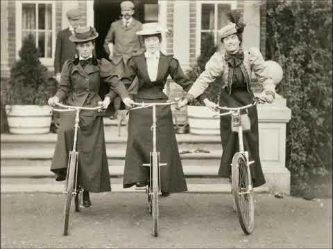 30 Wonderful Vintage Photographs Video of Women Posing With Bicycles From the Late 19th and Early 20