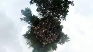 Asheville Drum Circle - tiny planet