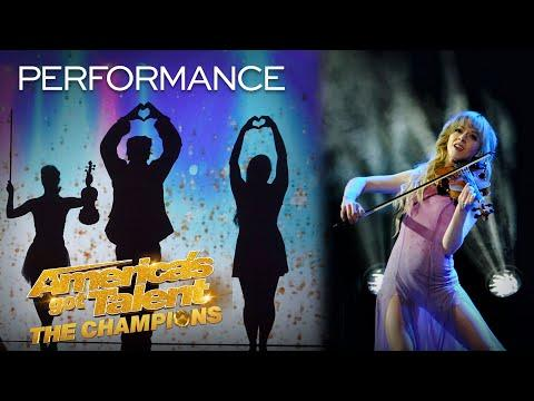Lindsey Stirling Performs - Aurora - With The Silhouettes! - America's Got Talent: The Champions