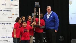 Elementary school robotics team beats the odds