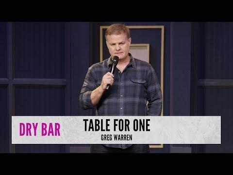 You Should Never Go To A Restaurant Alone Video. Comedian Greg Warren