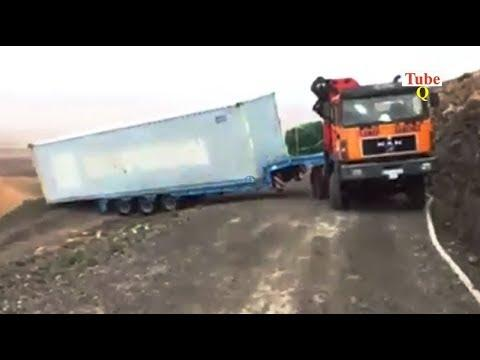 Extreme Truck Transport Excavator gone wrong!