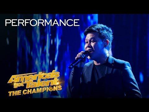 WOW! Marcelito Pomoy Sings - The Prayer - With DUAL VOICES! - America's Got Talent: The Champions
