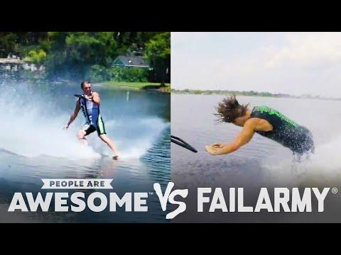 Barefoot Waterski & More Wins Vs. Fails Video | PAA Vs. FailArmy!