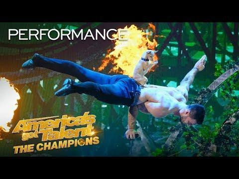 Christian & Percy Perform The CUTEST Dog Act You've Ever Seen! - America's Got Talent: The Champions