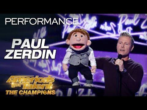 Ventriloquist Paul Zerdin Delivers HILARIOUS Performance - AGT: The Champions