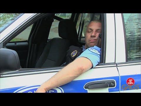 Sleeping Cop Prank
