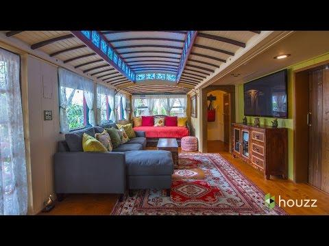 See A Funky Beach Home Made From Old Streetcars
