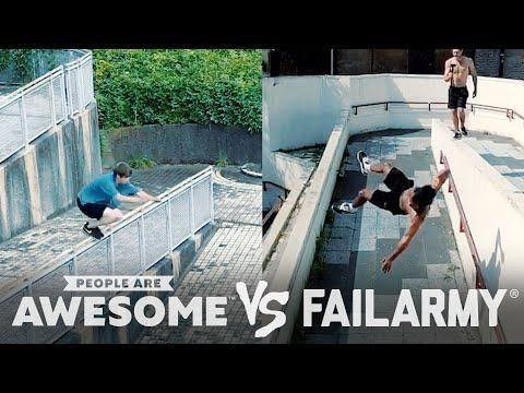 Wins VS. Fails Video, Freerunning, Kiteboarding, Seesaws & More!