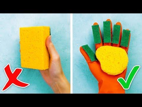 30 BRILLIANT CLEANING HACKS