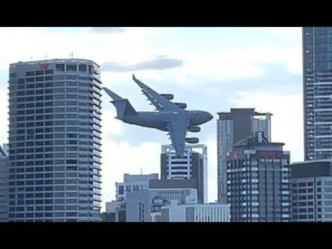 Flying A Giant Plane Between Buildings. Your Daily Dose Of Internet