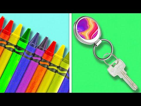 28 BRIGHT CRAYON DIYs AND CRAFTS