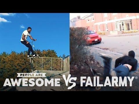 Wins VS. Fails in Cyr Wheeling, Kite Boarding, Parkour Video
