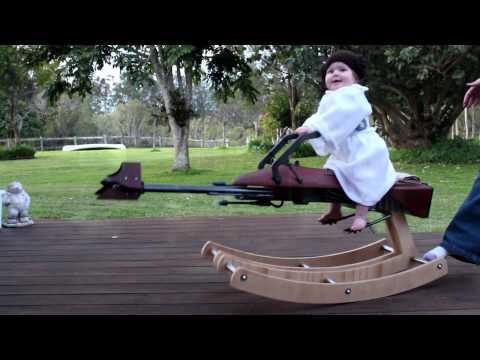 Dad Builds A Rocking Star Wars Speeder Bike For Baby Daughter