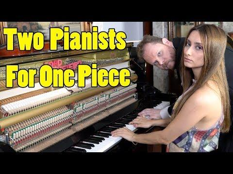 2 Pianists One Piano Equal Entertaining Performance