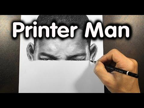 I Draw Like A Printer ( Drawing Will Smith Video ) - DP Truong
