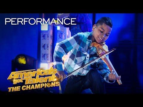 Tyler Butler-Figueroa Performs The Git Up by Blanco Brown! - America's Got Talent: The Champions