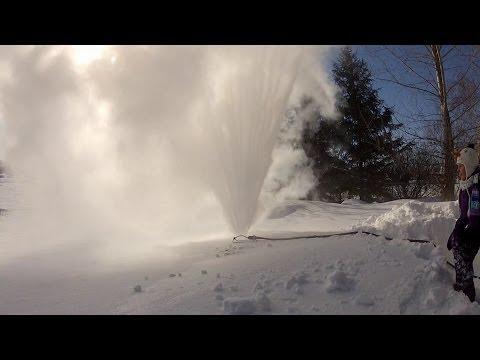 A Sprinkler In Winter -48C / -57F, Winnipeg, MB, CANADA
