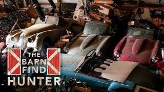 Barn Find Hunter | Dusty Jaguar E-Types, a rusty Porsche and an angry opossum   - Ep. 20