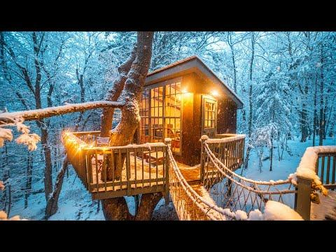 Unique & Cozy Winter Getaways Video (Tree house, A-frame, Log Cabin)
