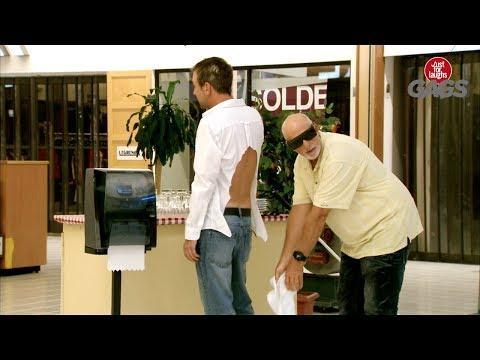 Blind Man Accidentally Uses Man's Shirt as Napkin