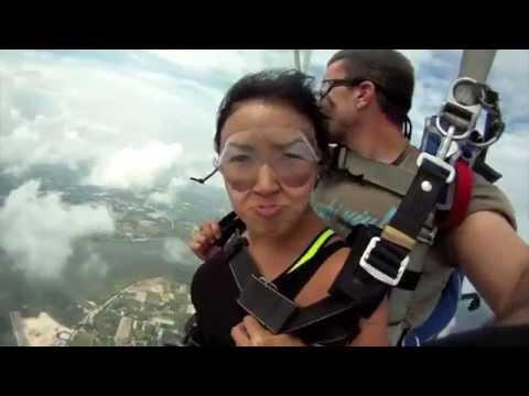 Near Death Airplane Collision With Skydiver In Free Fall