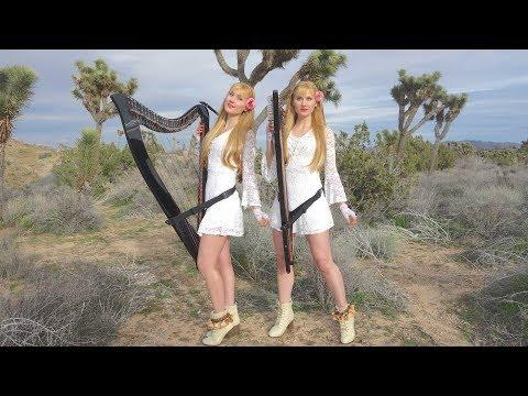 "Joe Satriani ""Always With Me, Always With You"" - Harp Twins, Camille and Kennerly"