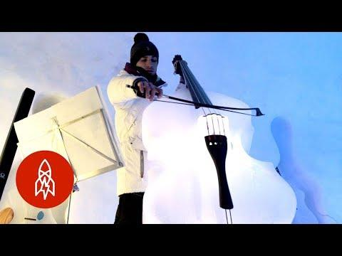 Playing Instruments Made From Ice