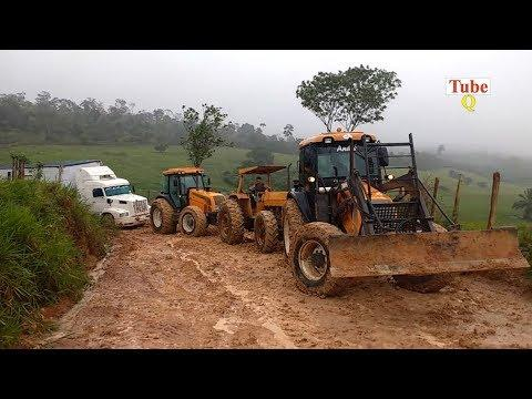 Tractor Pulling Truck out of mud | Best Recovery
