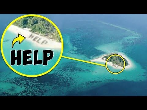 Thanks to This Photo Taken From a Plane, People Were Found on an Island in the Middle of the Sea