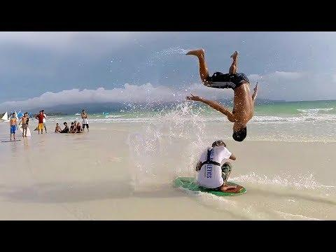 Epic Skimboarding Tricks and Jumps | People Are Awesome